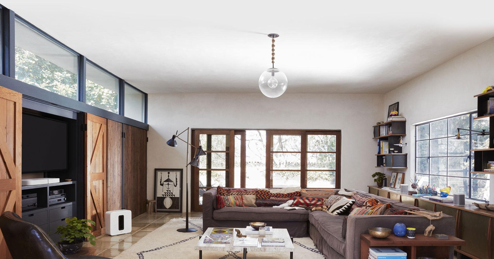 Sonos PLAYBASE im neuen Wohnzimmer – smartraum
